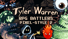 Load image into Gallery viewer, Tyler Warren RPG Battlers Pixel-Style 2