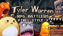 Load image into Gallery viewer, Tyler Warren RPG Battlers Pixel Style 3