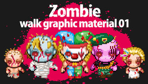 Zombie walk graphic material 01
