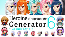 Load image into Gallery viewer, Heroine Character Generator 6