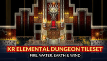 Load image into Gallery viewer, KR Elemental Dungeon Tileset - Fire Water Earth Wind