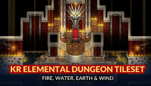 KR Elemental Dungeon Tileset - Fire Water Earth Wind