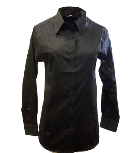 LADIES COTTON SATEEN BUTTON UP SHIRT