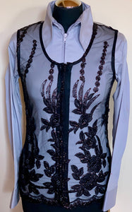LADIES CARNIVAL SHOW VEST BLACK