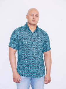 """Electric"" Casual summer unisex beach shirt"