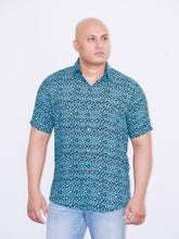 "Load image into Gallery viewer, ""Electric"" Casual summer unisex beach shirt"
