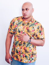 "Load image into Gallery viewer, ""Pineapple paradise"" unisex summer shirt"