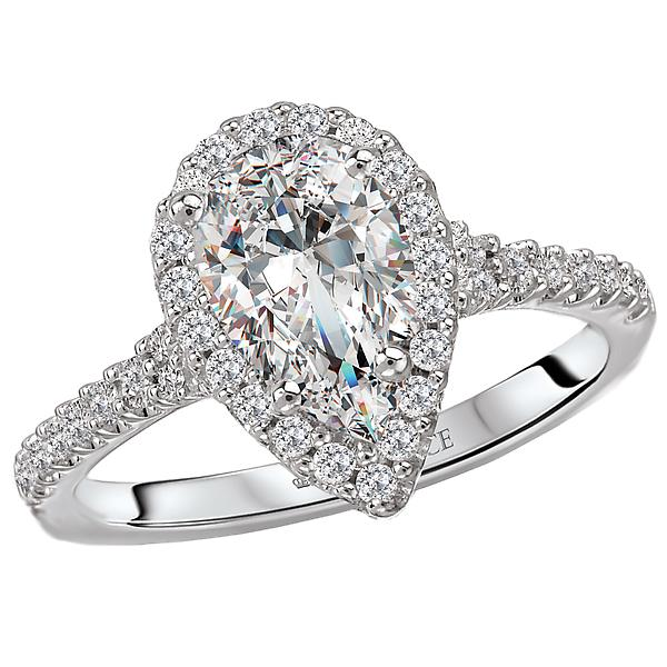 halo semi-mount diamond ring