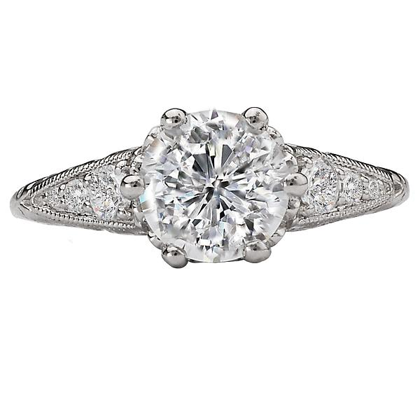 vintage semi-mount diamond ring