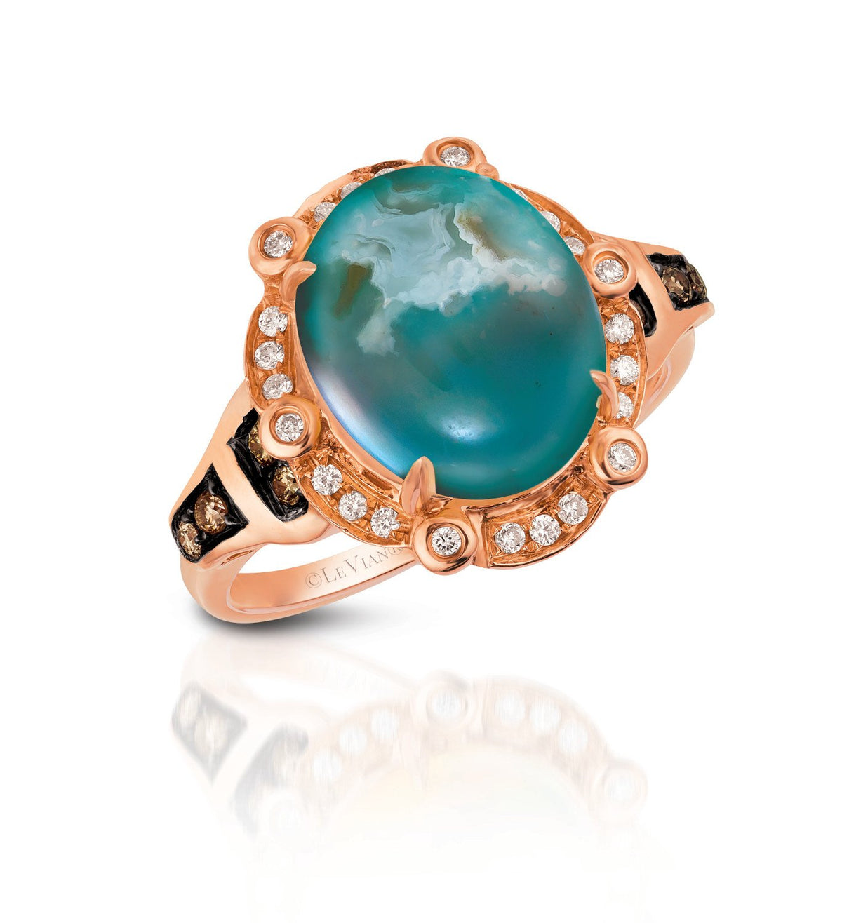 le vian chocolatier® ring featuring 3  1/3 cts