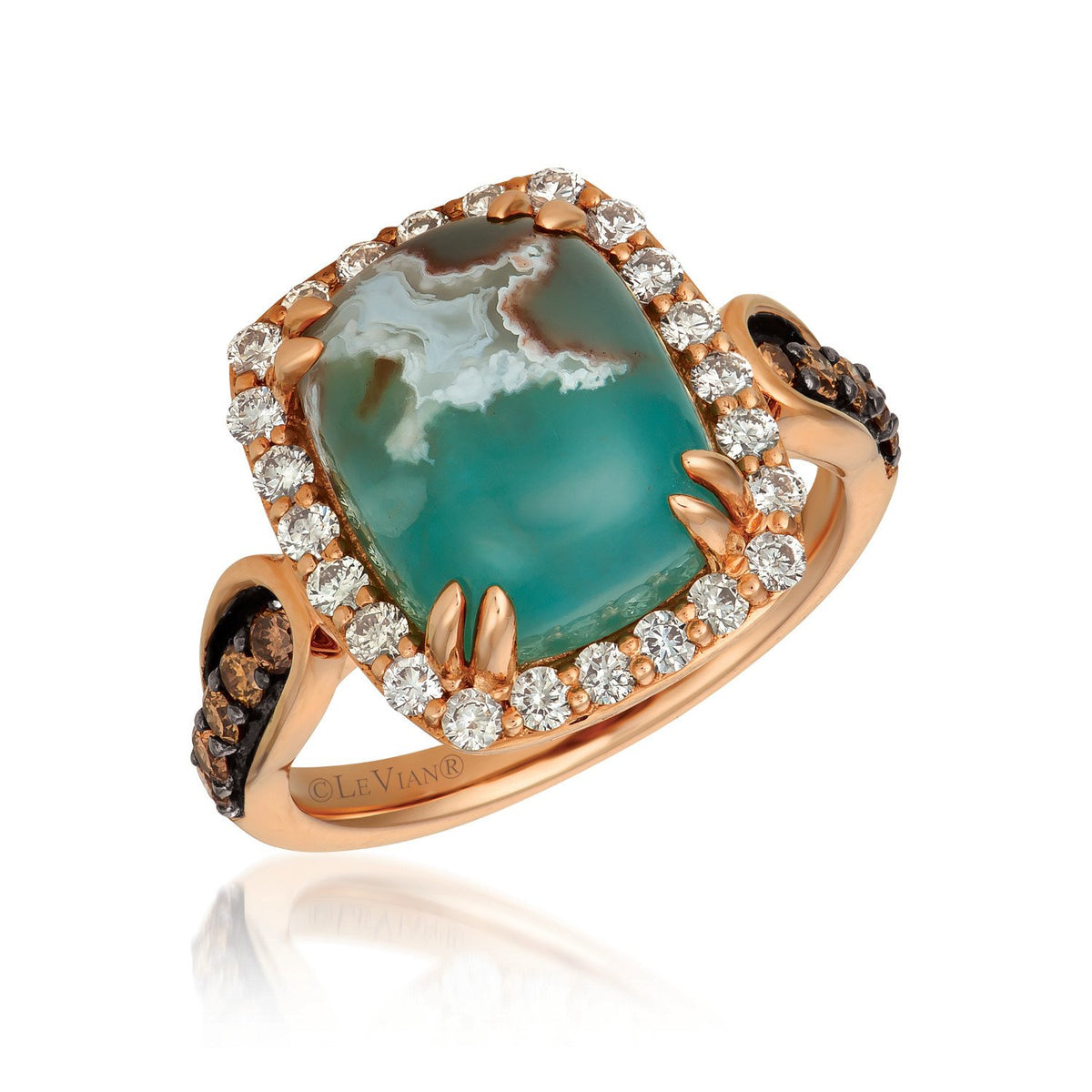 le vian creme brulee® ring featuring 6 cts