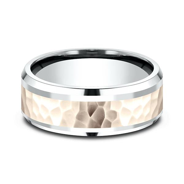 Two Tone Comfort-Fit Design Wedding Ring