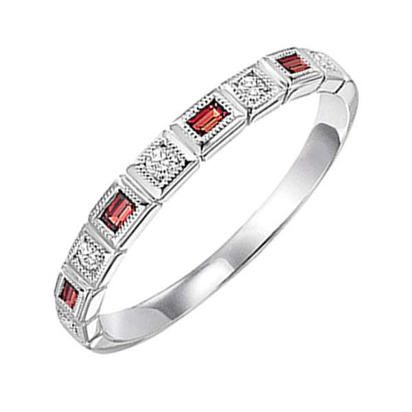 10kw mix bezel garnet band 1/12ct