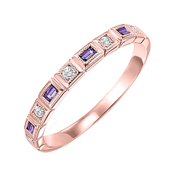 10kr mix bezel amethyst band 1/10ct