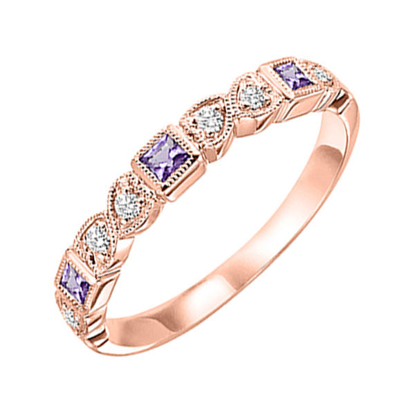 10kr mix bezel amethyst band 1/12ct