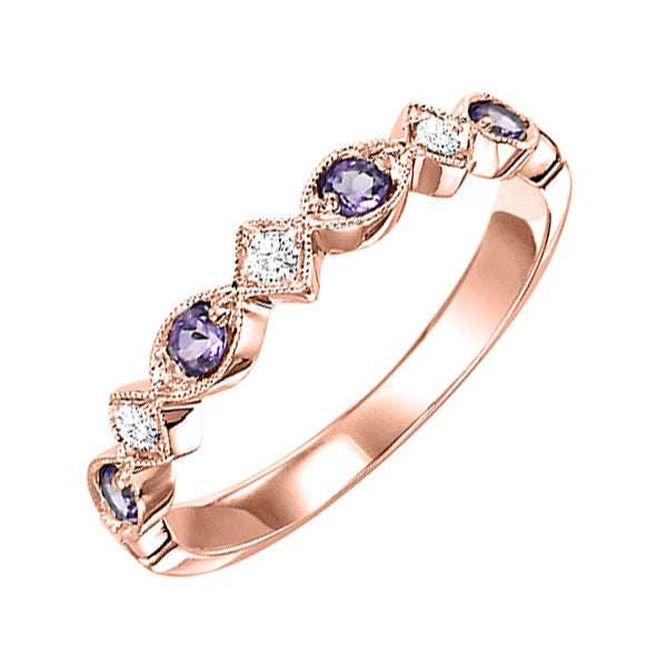 10kr mix prong amethyst band 1/20ct