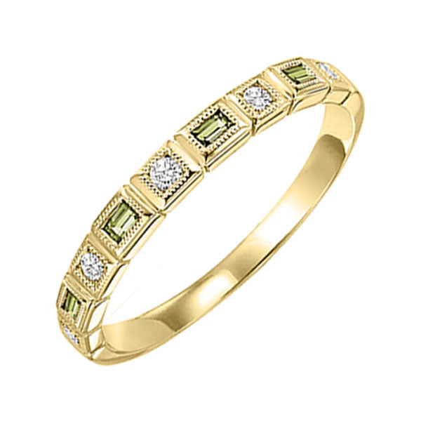 14ky mix bezel peridot band 1/12ct, rg73507-4wb