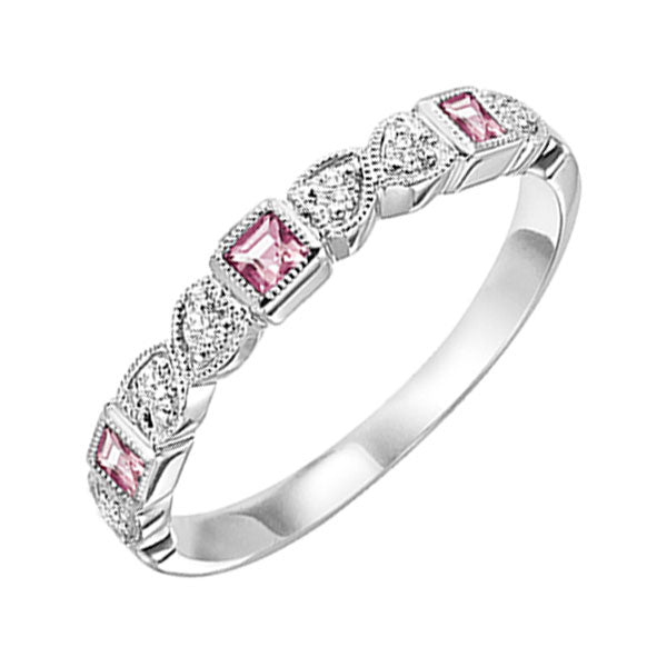 14kw mix bezel pink tourmaline band 1/12ct, se6140g4-4w