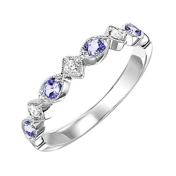 10kw mix prong alexandrite band 1/20ct