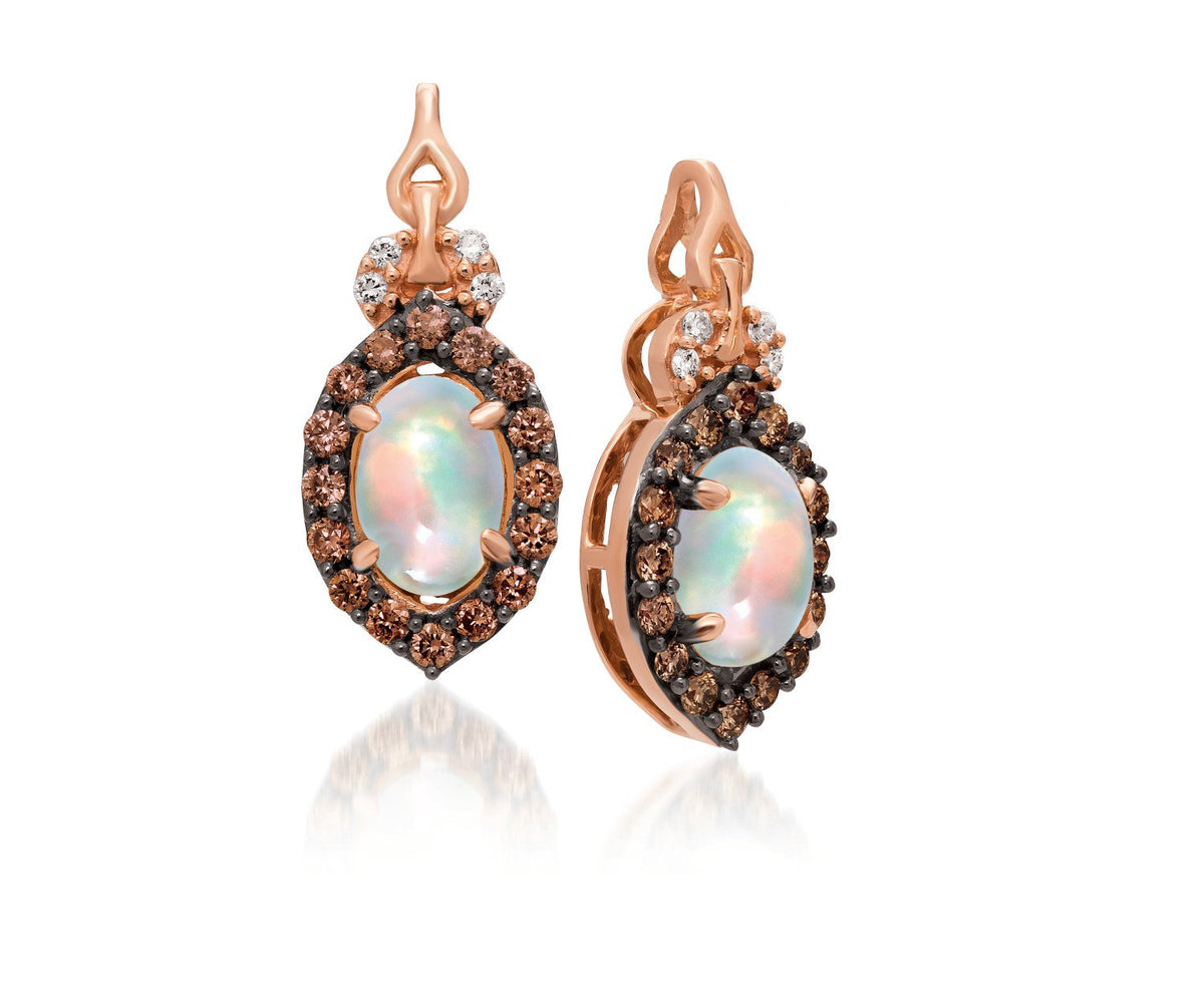 le vian chocolatier® earrings featuring 5/8 cts