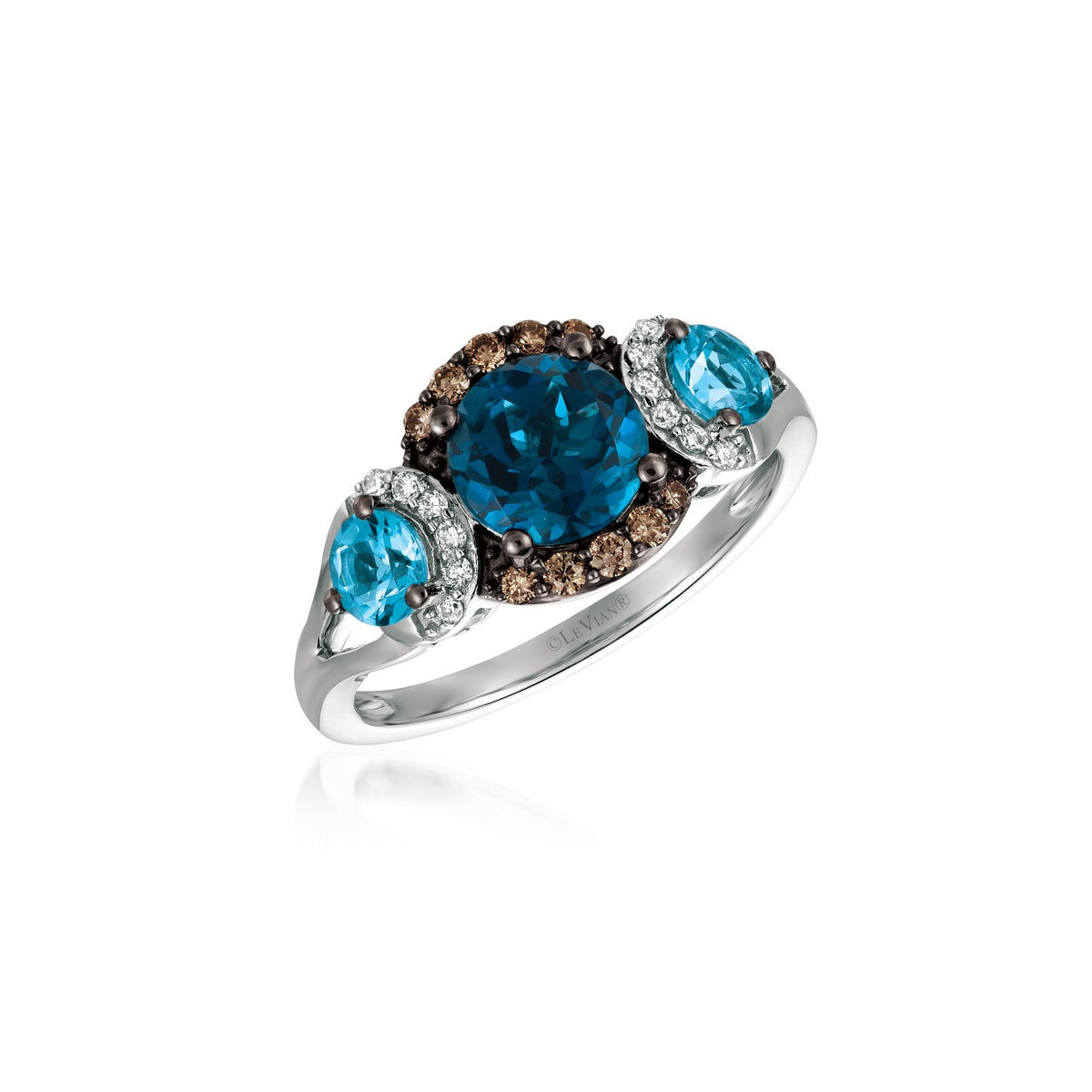le vian chocolatier® ring featuring 1  1/2 cts
