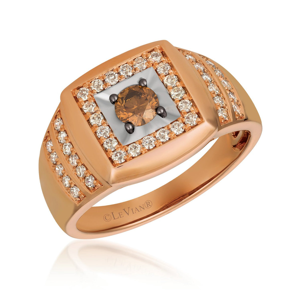 le vian creme brulee® ring featuring 1/3 cts