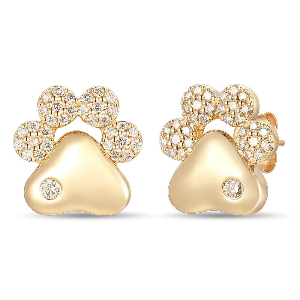le vian creme brulee® earrings featuring 1/2 cts