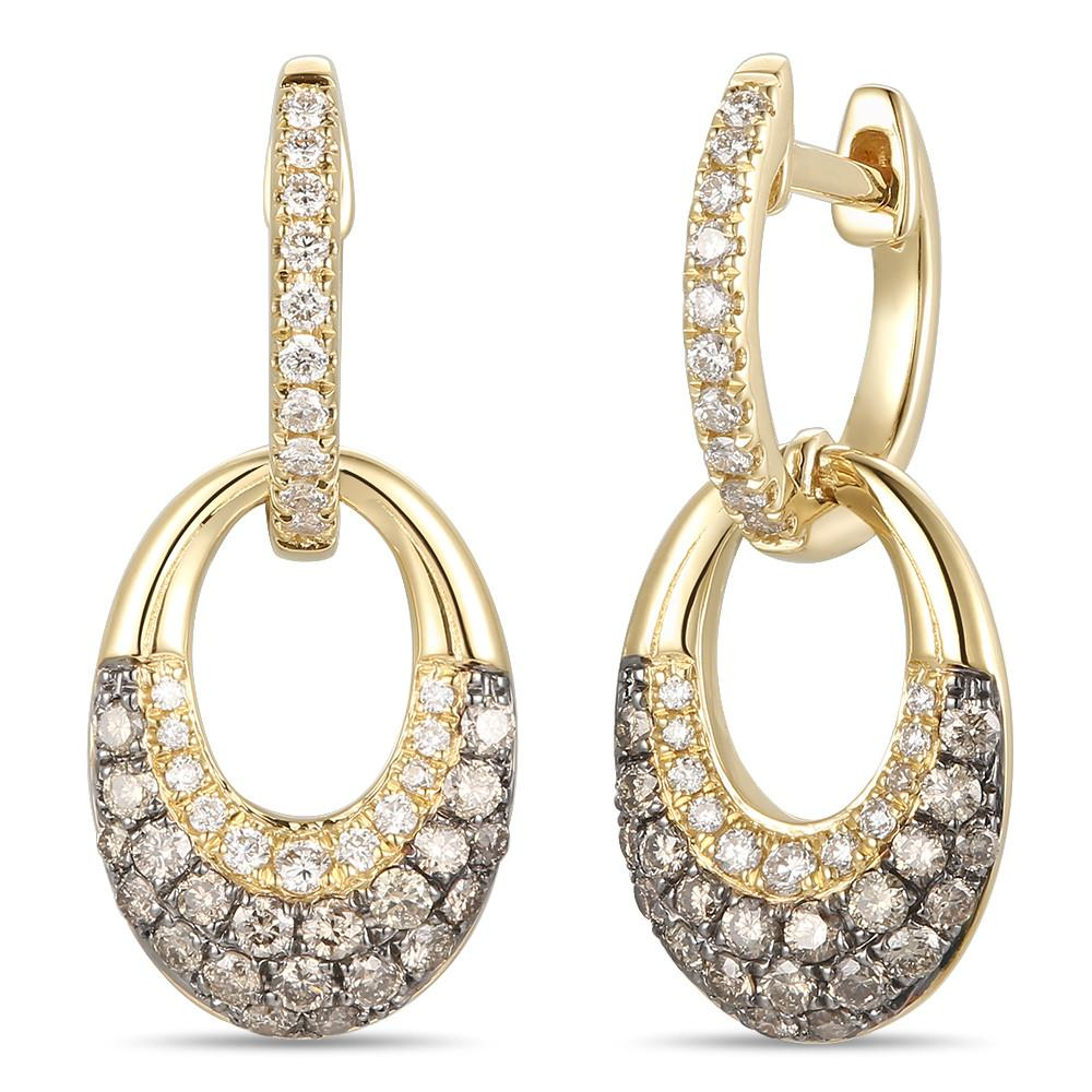 le vian chocolatier® earrings featuring 3/8 cts