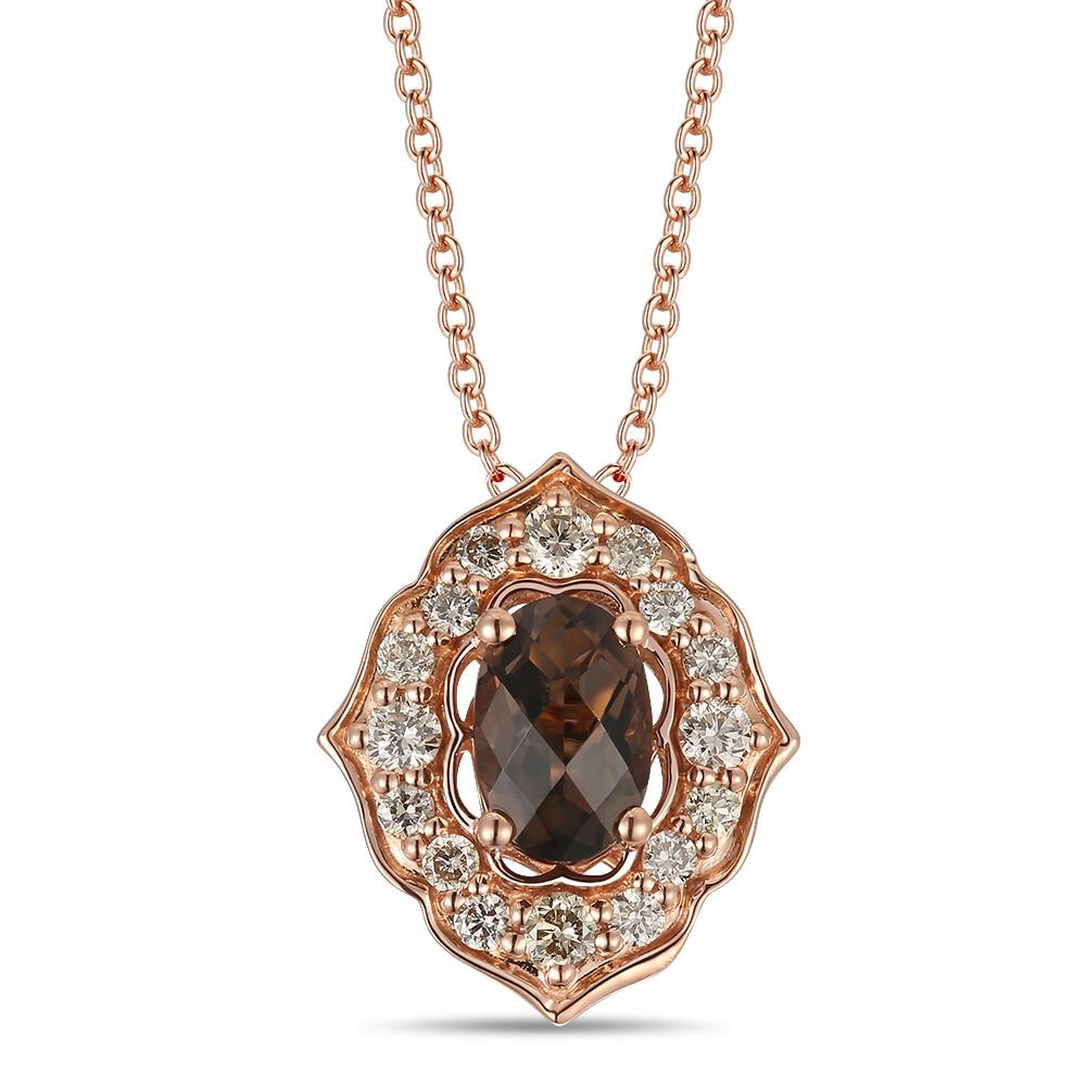 le vian creme brulee® pendant featuring 3/8 cts