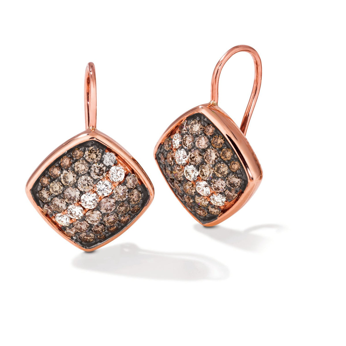 le vian ombre earrings featuring 1  1/4 cts