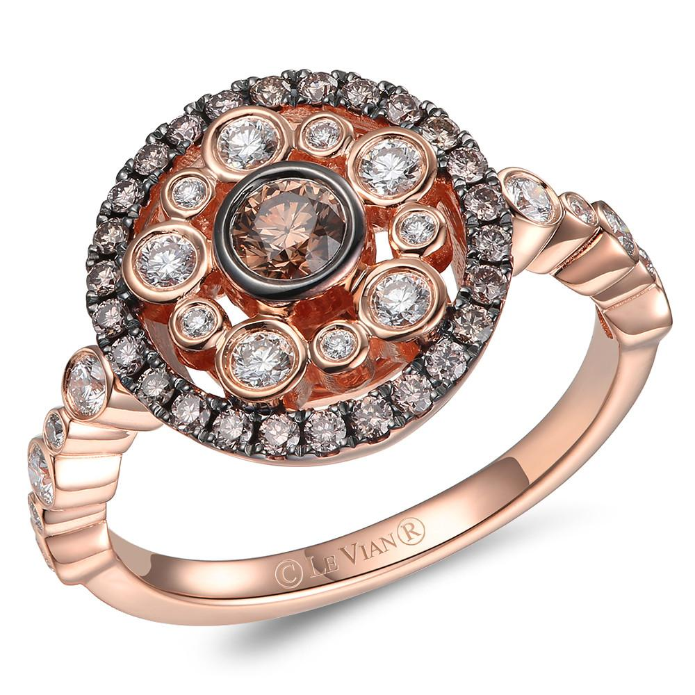 le vian chocolatier® ring featuring 3/8 cts