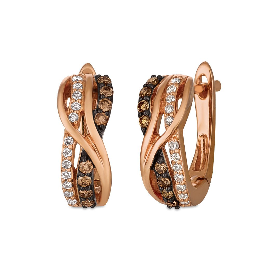 le vian chocolatier® earrings featuring 1/4 cts