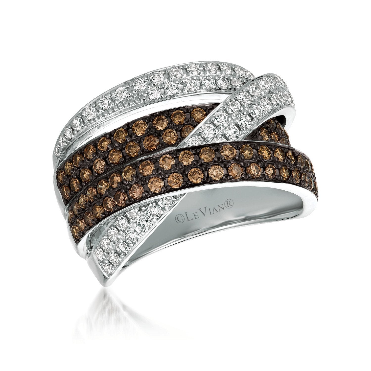 le vian chocolatier® ring featuring 5/8 cts