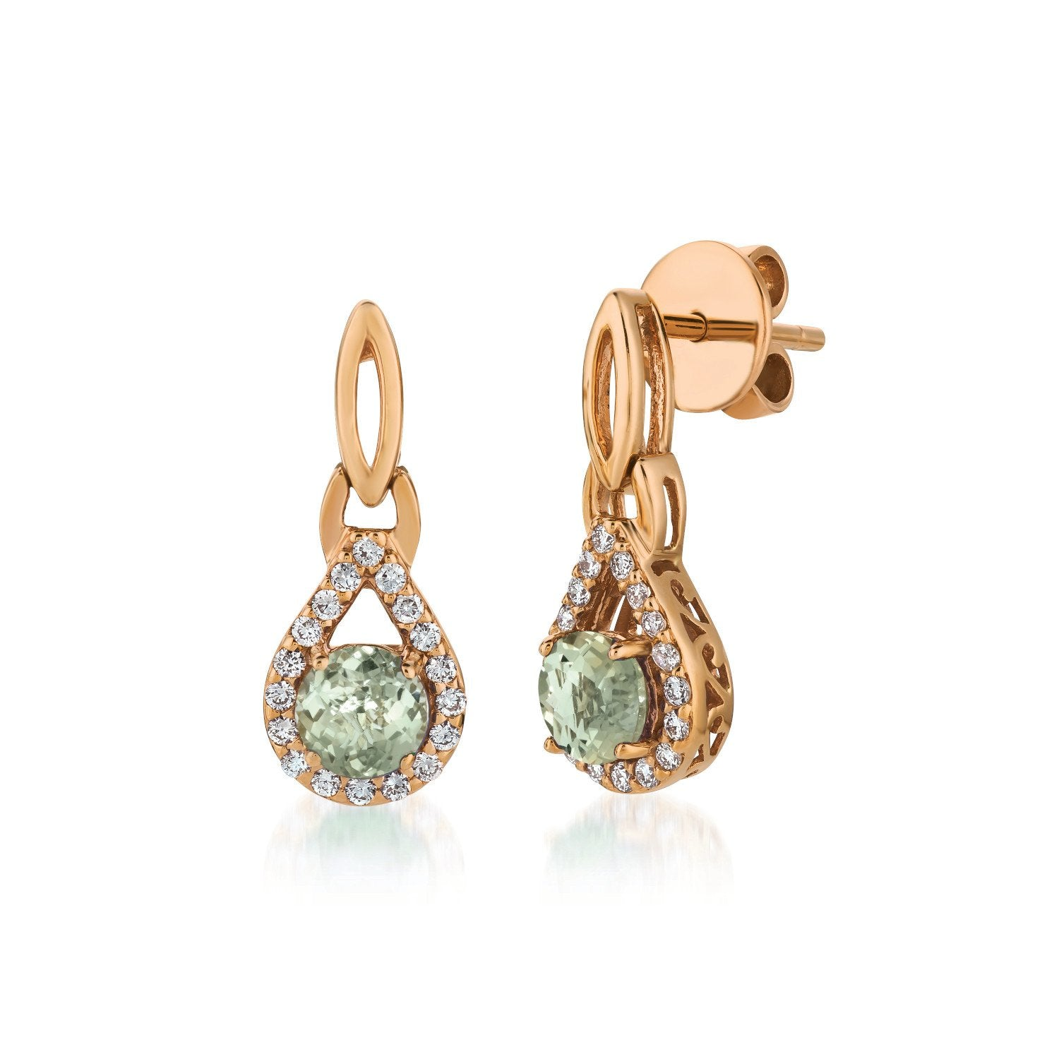 le vian® earrings featuring 3/4 cts