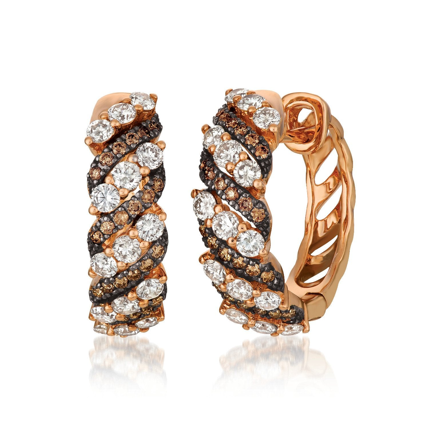 le vian creme brulee® earrings featuring 1  1/3 cts