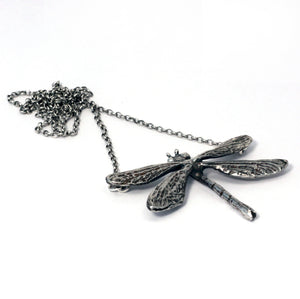 Damselfly pendant /necklace in sterling silver