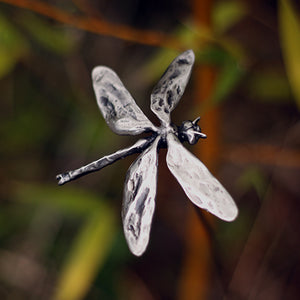 Dragonfly sculpture garden stake