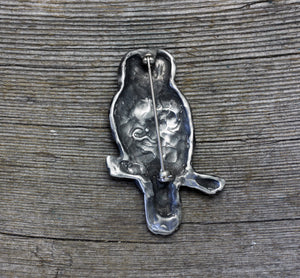 Barred Owl brooch