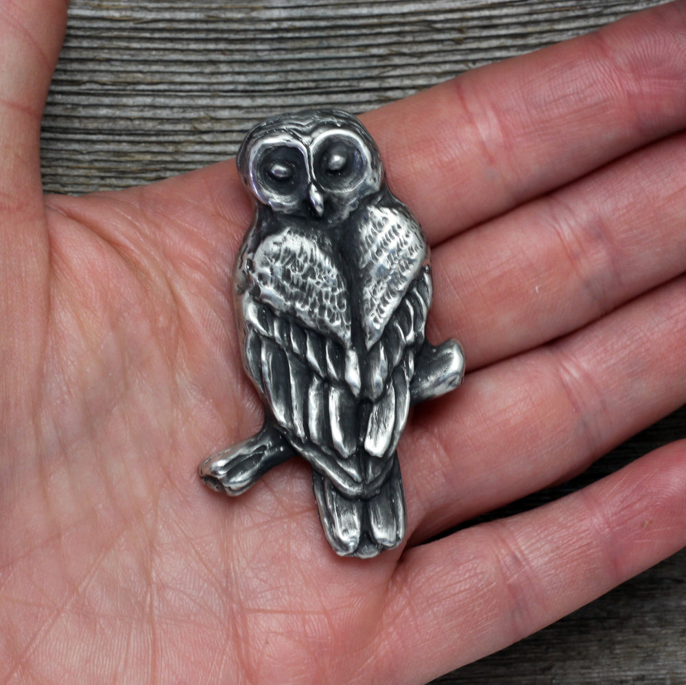 Spotted Owl brooch