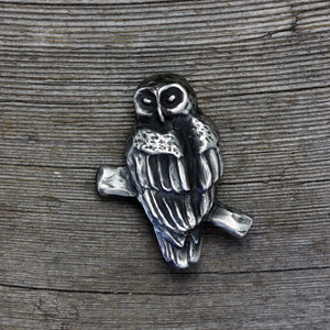 Load image into Gallery viewer, Barred Owl brooch