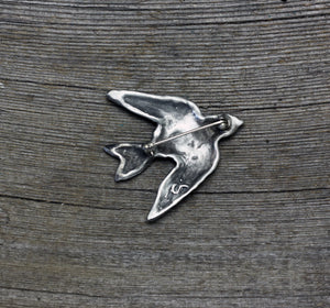 Swallow brooch pin