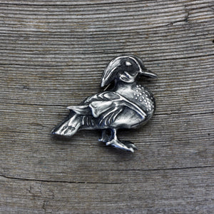 Load image into Gallery viewer, Wood Duck brooch pin