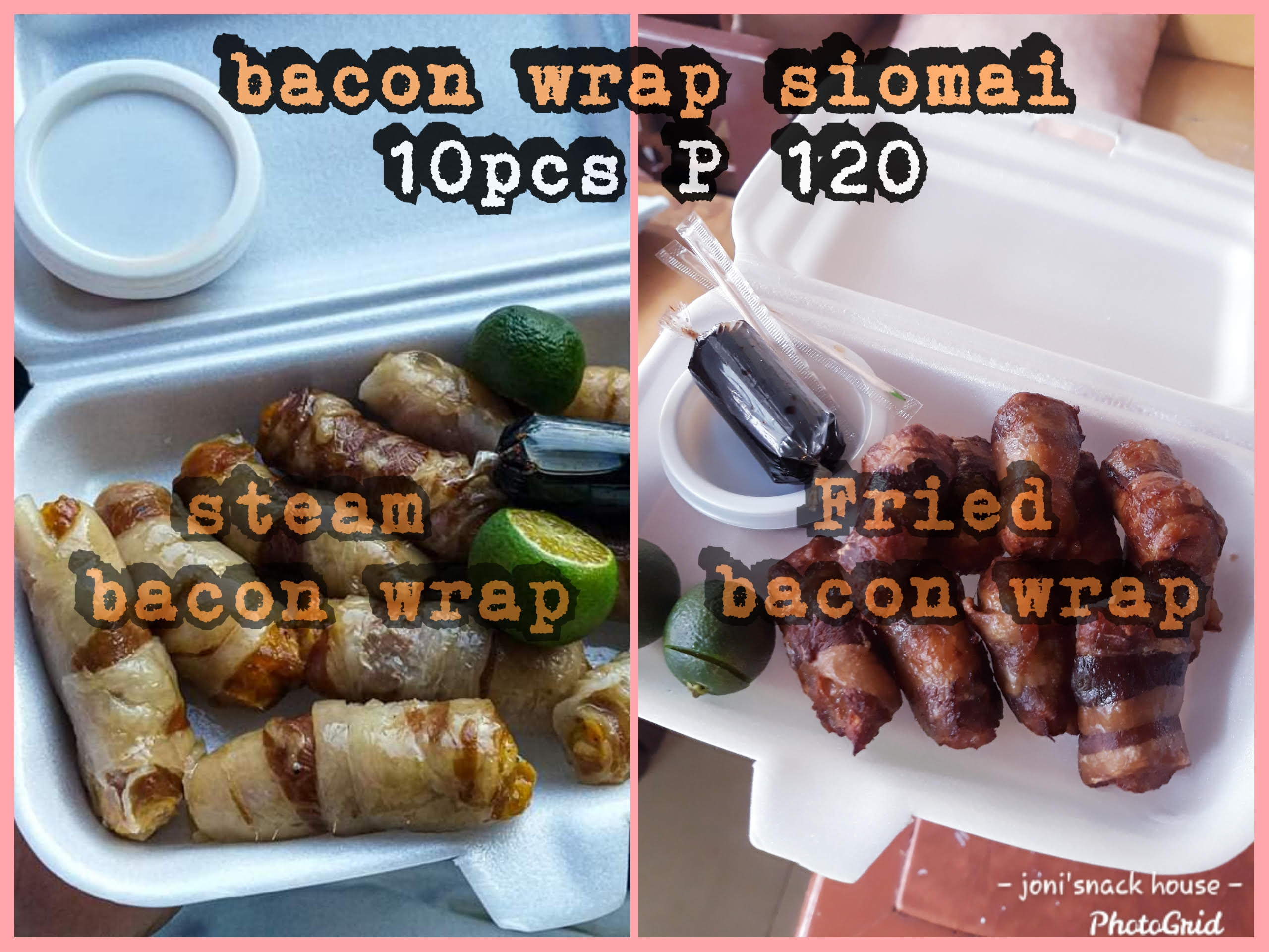 Joni's Bacon Wrap Siomai