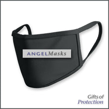 Load image into Gallery viewer, Double Layer Machine Washable Solid White or Black Classic Mask