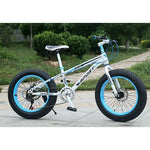 "KUBEEN new arrival 7/21/24/27 speeds Disc brakes Fat bike 20 inch 20x4.0"" Fat Tire Snow Bicycle  Oil spring fork"