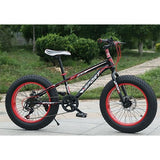 "KUBEEN Snow Bike Folding MTB 20"" 7 21 24 27 speed double disc mountain Fat Bicycle Suspension Steel Frame 4"" Tire aluminum wheel"