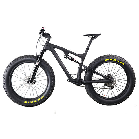 Carbon full suspension fatbike 26er mountain bike