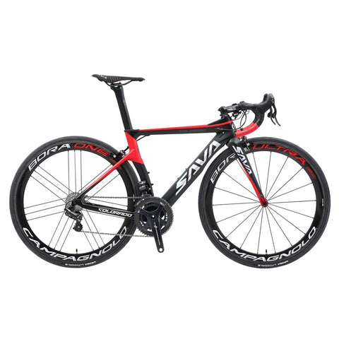 SAVA Road Bike Racing Carbon Fiber Road Bike with CAMPAGNOLO RECORD EPS electric Gear Shiftting Speeds Road Bike 7.4kg Only