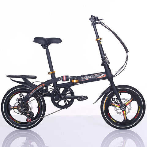 New 16 inch double disc brake folding bicycle Quick fold bike Shockproof bikes leisure bicycles outdoor BMX Travel tools