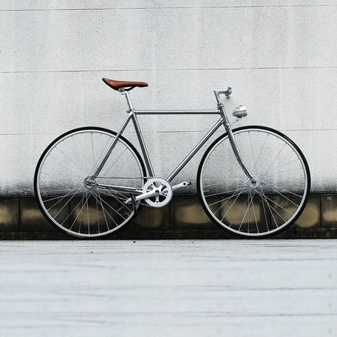 Retro Steel frame sliver  700C Fixed Gear bike Track Single speed Bike  52cm  fixie bike vintage DIY frame